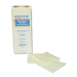McKesson Square Nonsterile 4-Ply Nonwoven Polyester/Rayon Sponge, 4 x 4 in., 200-Pack