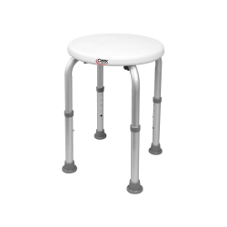 Carex® Shower Stool, White, 150 lbs. Capacity