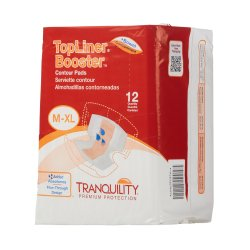 Tranquility® Top Liner® Added Absorbency Incontinence Booster Pad, 13½ x 21½ Inch
