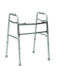 drive™ Bariatric Dual Release Folding Walker, 32 - 39 in., Gray, 500 lbs. Capacity, Aluminum