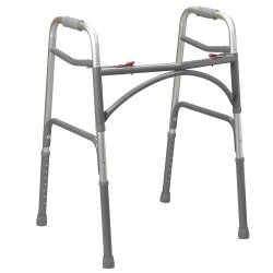 drive™ Bariatric Aluminum Folding Walker, Two Button
