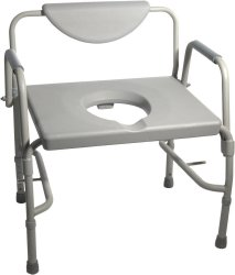 Drive™ Deluxe Bariatric Drop-Arm Commode
