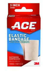 ACE™ Elastic Bandage with Clips, 3 inch x 5 yard