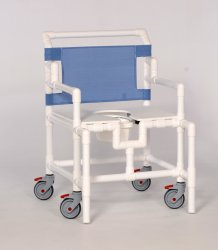 IPU Bariatric Shower Chair, 22 in. Height, White, 550 lbs. Capacity