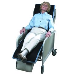 SkiL-Care™ Geri-Chair Overlay, 18 x 68 x 2 in., Black / Blue