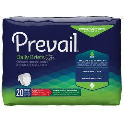Prevail® Adult Heavy-Absorbent Incontinence Brief, Medium, White