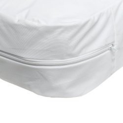 Mabis Plastic Nylon Mattress Cover, 39 x 75 x 8 in., White