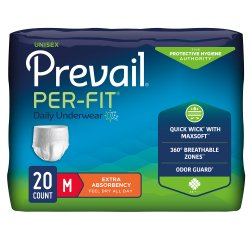 Prevail® Per-Fit® Adult Heavy Absorbent Underwear, Medium, White