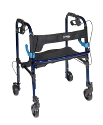 drive™ Clever-Lite 4-Wheel Rollator, 5 in. Wheel, 32.5 - 36.5 in. Handle, Blue, 300 lbs. Capacity, Aluminum Frame