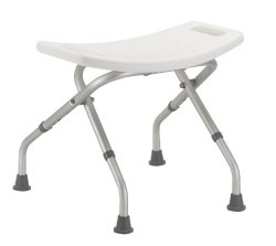 drive™ Folding Shower Chair, White, 300 lbs. Capacity