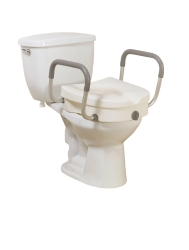 drive™ 2-in-1 Locking Raised Toilet Seat
