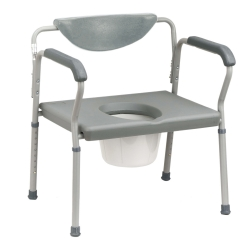 drive™ Deluxe Bariatric Commode, Gray, 650 lbs. Capacity