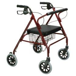 drive™ Go-Lite 4-Wheel Bariatric Rollator, Red