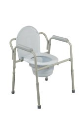Drive Medical Steel Folding Commode
