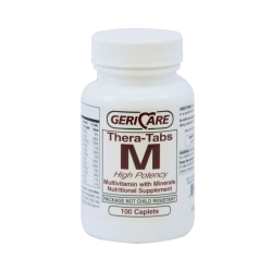 Geri-Care  Multivitamin Supplement with Minerals, 100 Caplets per Bottle