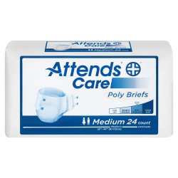 Attends® Care Adult Moderate-Absorbent Incontinence Brief, Medium, White