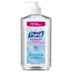 Purell® Advanced Hand Sanitizer Gel, 20 oz. Pump Bottle