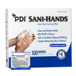 Sani-Hands® Sanitizing Skin Wipe, Individual Packet