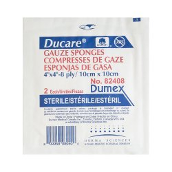 Ducare® Sterile Woven Gauze Sponge, 4 x 4 Inch