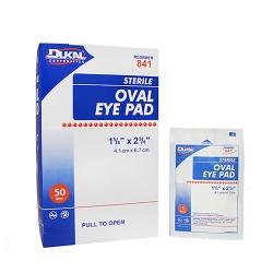 Dukal Sterile Cotton Eye Pad, 1-5/8 x 2-5/8 in., White
