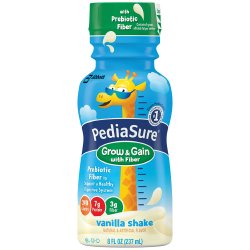 PediaSure® Grow & Gain with Fiber Vanilla Pediatric Oral Supplement, 8 oz. Bottle