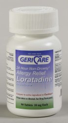 Gericare 24 Hour Non Drowsy Loratadine Allergy Relief Tablets