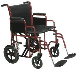 drive™ Bariatric Steel Transport Chair