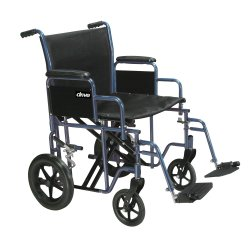 drive™ Bariatric Heavy-Duty Transport Chair, 20 in. Seat, Steel, 450-lb capacity