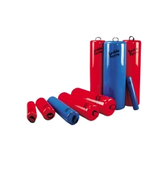 Tumble Forms® Roll, Foam, 24 in. L x 8 in. W x 8 in. H, Red, Blue