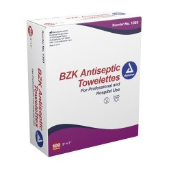 dynarex® Unscented BZK Antiseptic Towelettes, Individual Packet