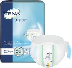 TENA® Stretch™ Super Adult Heavy-Absorbent Incontinence Brief, Large / X-Large, White