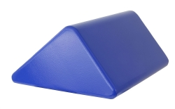 Skillbuilders® Knee Positioning Wedge, Foam, 13 in. L x 21 in. W x 15 in. H, Blue