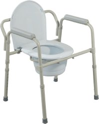 Drive™ Folding Steel Commode
