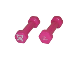 CanDo® Vinyl Coated Dumbbell Pair