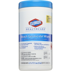 Clorox® Healthcare® Bleach Surface Disinfectant Cleaner, Wipe, 70 Count