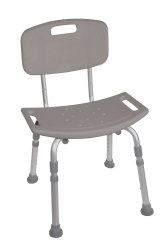 Drive Medical Deluxe Aluminum Shower Chair with Removable Back