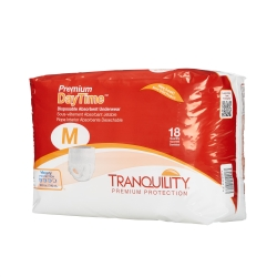Tranquility® Premium DayTime™ Adult Heavy Absorbent Underwear, Medium, White