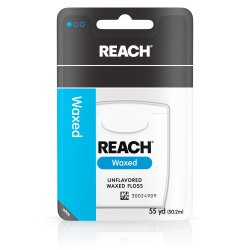 Reach® Unflavored Waxed Dental Floss, 55 yds.