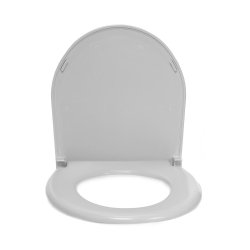 McKesson Toilet Seat/Lid, For Use With 16-7841 Deluxe Commode with Back 1 in. Tubing