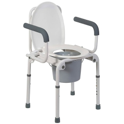 Mabis® Drop-Arm Steel Commode
