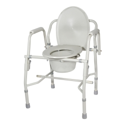 drive™ Deluxe Steel Drop-Arm Commode Chair