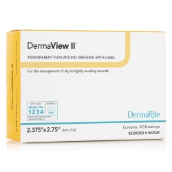 DermaView II™ Transparent Film Dressing, 6 x 7 Centimeter