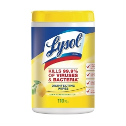 Lysol® Surface Disinfectant Cleaner, Wipe, 110 Count