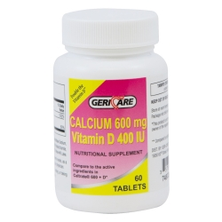 Geri-Care Calcium with Vitamin D Supplement