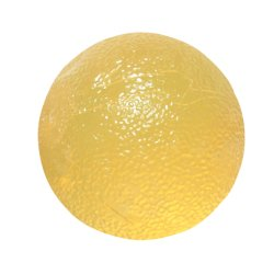 CanDo® Standard Circular Gel Squeeze Ball, Yellow, X-Light