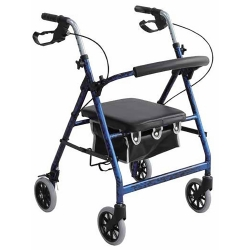 Merits 4-Wheel Rollator, Blue