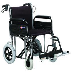 Merits Bariatric Transport Chair, 22 in. Seat, , 450-lb capacity