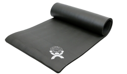 CanDo® ArmaSport® Sup-R Mat® Exercise Mat, 48 in. L x 24 in. W, Black, Rubberized Foam