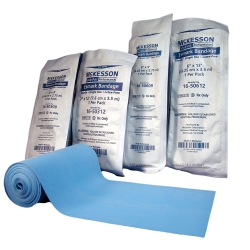 McKesson Performance Sterile Self-Adherent Standard Compression Esmark Bandage, 4 Inch x 3 Yard, Blue