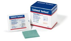 Cutimed® Sorbact® Wound Dressing Pad, 2-4/5 x 3½ inch
